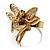 Gold-Tone Fairy Wishing Crystal Ring