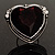 Oversized Vintage Heart Cocktail Ring (Antique Silver) - view 4