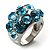 Sky Blue Crystal Band Ring