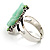 Antique Silver Pale Green Flower Ring - view 5