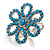 Turquoise Coloured Acrylic Daisy Cocktail Ring - view 3