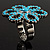 Turquoise Coloured Acrylic Daisy Cocktail Ring - view 7