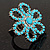 Turquoise Coloured Acrylic Daisy Cocktail Ring - view 4