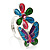 Multicolour Enamel Flower And Butterfly Ring - view 2