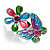 Multicolour Enamel Flower And Butterfly Ring - view 6