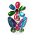 Multicolour Enamel Flower And Butterfly Ring - view 8