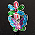 Multicolour Enamel Flower And Butterfly Ring - view 3
