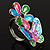 Multicolour Enamel Flower And Butterfly Ring - view 9