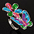 Multicolour Enamel Flower And Butterfly Ring - view 4