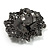 Large Filigree Crystal Cameo Cocktail Ring (Black Tone) - view 2