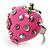 Pink Enamel Strawberry Ring