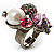 Luxurious Crystal Cluster Cocktail Ring (Multicoloured) - view 6