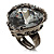 Ice Clear Crystal Contemporary Heart Ring - view 6