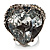 Ice Clear Crystal Contemporary Heart Ring - view 9