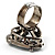 Ice Clear Crystal Contemporary Heart Ring - view 7