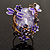 Exquisite Flower And Butterfly Cocktail Ring (Gold And Purple) - view 10