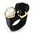 Acrylic Wooden Boho Style Fashion Ring (Black&Clear)
