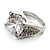 Clear Crystal Cz Statement Ring (Silver Tone) - view 10
