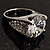 Clear Crystal Cz Statement Ring (Silver Tone) - view 14