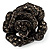 Sultry Crystal Rose Cocktail Ring (Black Tone) - view 4