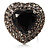 Jet-Black CZ Heart Cocktail Ring (Silver Tone) - view 9