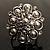 Bridal Imitation Pearl Crystal Floral Ring (Silver Tone) - view 12