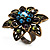 Bronze-Tone Crystal Flower Cocktail Ring (Multicoloured) - view 3