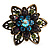 Bronze-Tone Crystal Flower Cocktail Ring (Multicoloured) - view 5