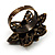 Bronze-Tone Crystal Flower Cocktail Ring (Multicoloured) - view 7