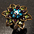 Bronze-Tone Crystal Flower Cocktail Ring (Multicoloured) - view 2