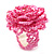 Baby Pink Glass Bead Flower Stretch Ring - view 3