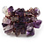 Lavender Semiprecious Chip Cluster Flex Ring - view 2