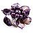 Purple Shell Flower Rings (Silver Tone) - view 12
