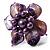 Purple Shell Flower Rings (Silver Tone) - view 15
