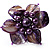 Purple Shell Flower Rings (Silver Tone) - view 9
