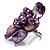 Purple Shell Flower Rings (Silver Tone) - view 14