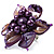 Purple Shell Flower Rings (Silver Tone) - view 11