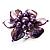 Purple Shell Flower Rings (Silver Tone) - view 8
