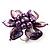 Purple Shell Flower Rings (Silver Tone) - view 16