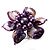 Purple Shell Flower Rings (Silver Tone) - view 13
