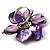 Purple Shell Flower Rings (Silver Tone) - view 10