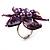Purple Shell Flower Rings (Silver Tone) - view 17