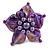Purple Shell Flower Rings (Silver Tone) - view 2
