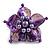 Purple Shell Flower Rings (Silver Tone) - view 6