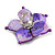 Purple Shell Flower Rings (Silver Tone) - view 4