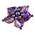 Purple Shell Flower Rings (Silver Tone) - view 5