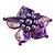 Purple Shell Flower Rings (Silver Tone) - view 7