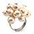 Light Cream Freshwater Pearl Cluster Ring (Silver Tone) - view 3