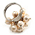Light Cream Freshwater Pearl Cluster Ring (Silver Tone) - view 4