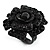 Sultry Crystal Rose Cocktail Ring (Black Tone)